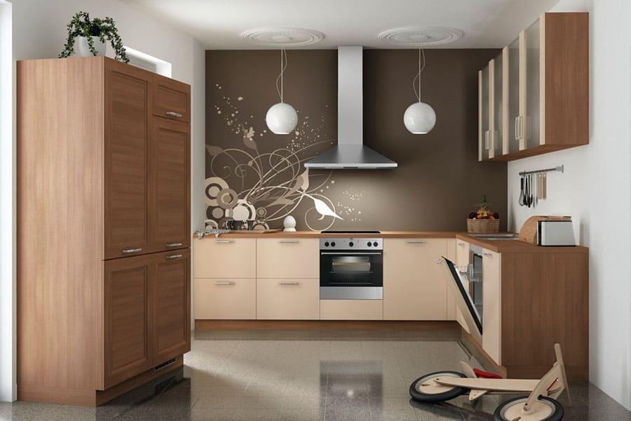 k che holz braun beige k chen am hopfenmarkt beratung und montage. Black Bedroom Furniture Sets. Home Design Ideas